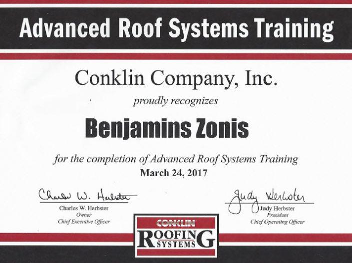 Advaanced Roof Systems Training