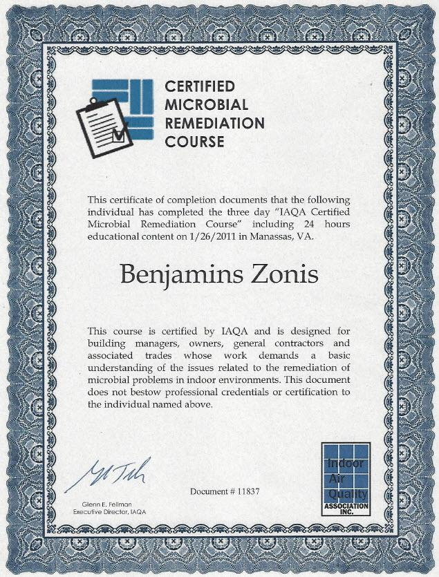 certified microbial remediation course